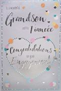 Grandson and Fiancée Engagement Card